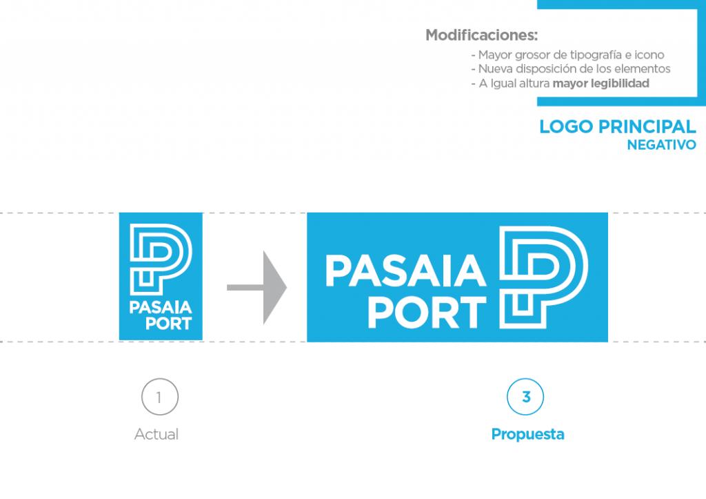 Pasaia Port tipografia