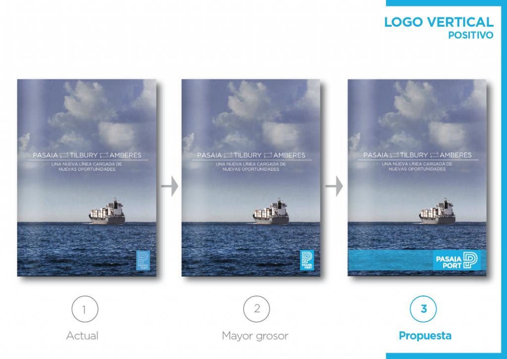 Pasaia Port - Evolución del nuevo logo