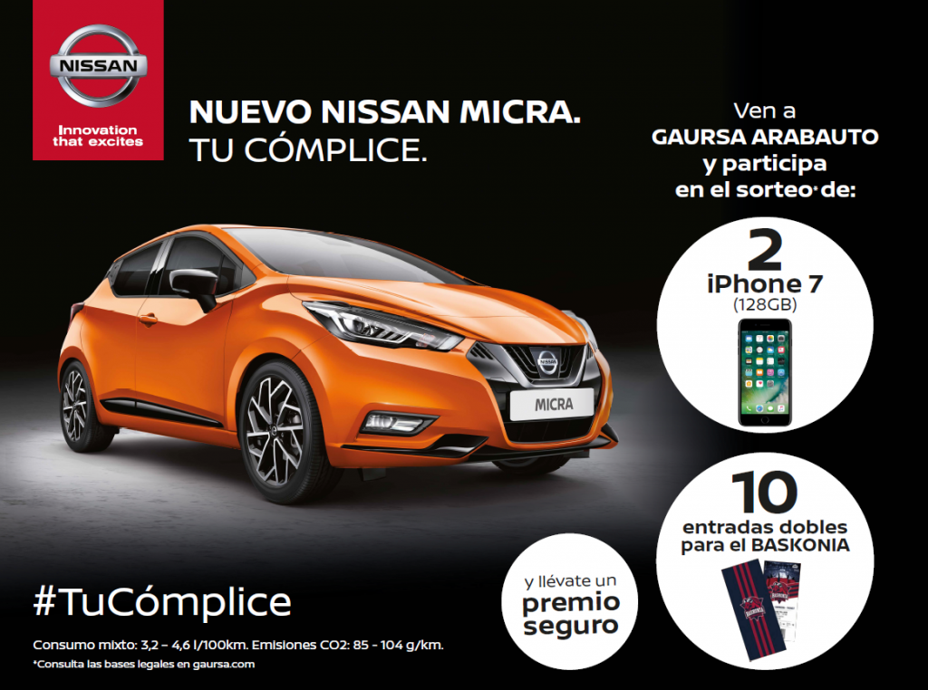 Campaña Nissan Micra Gaursa Arabauto 2017