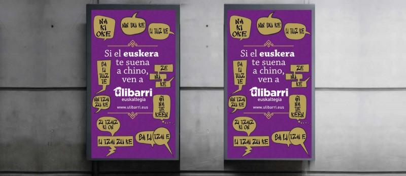 Campaña Ulibarri de opis en el metro de Bilbao