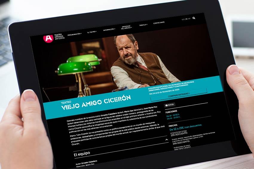 El reflejo online del Teatro Arriaga