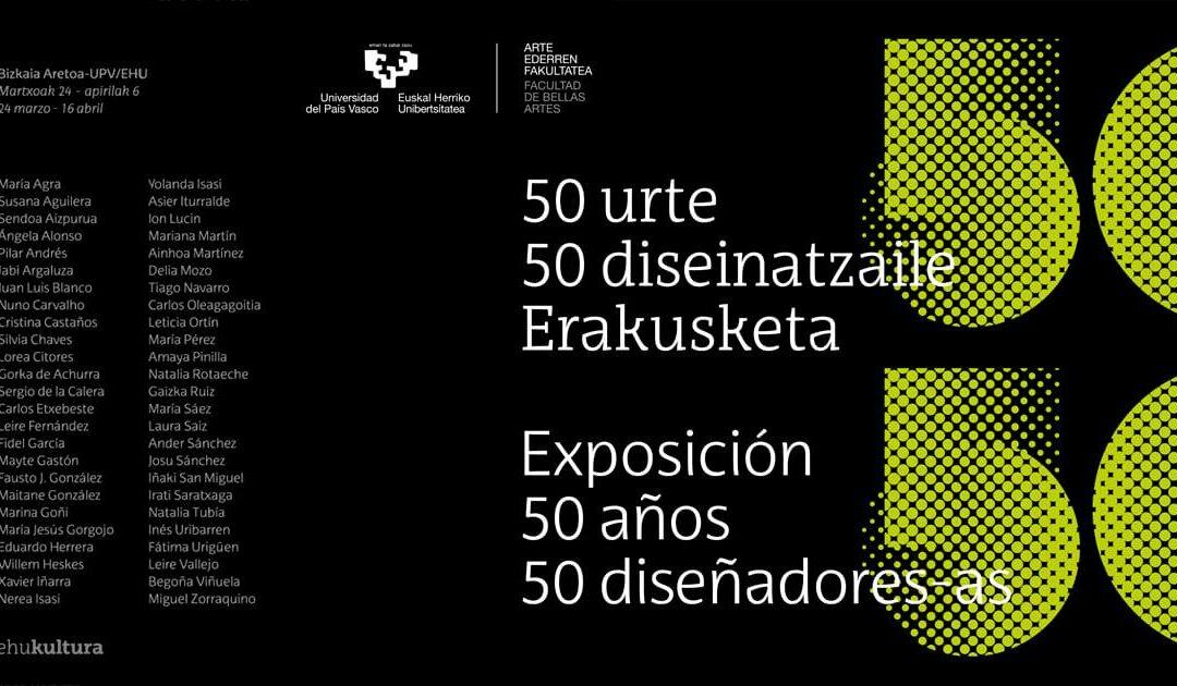 La industria creativa en Euskadi a través de la exposición 50 AÑOS 50 DISEÑADORES